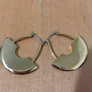 J. Crew. Gold Geometric Hoop Earrings